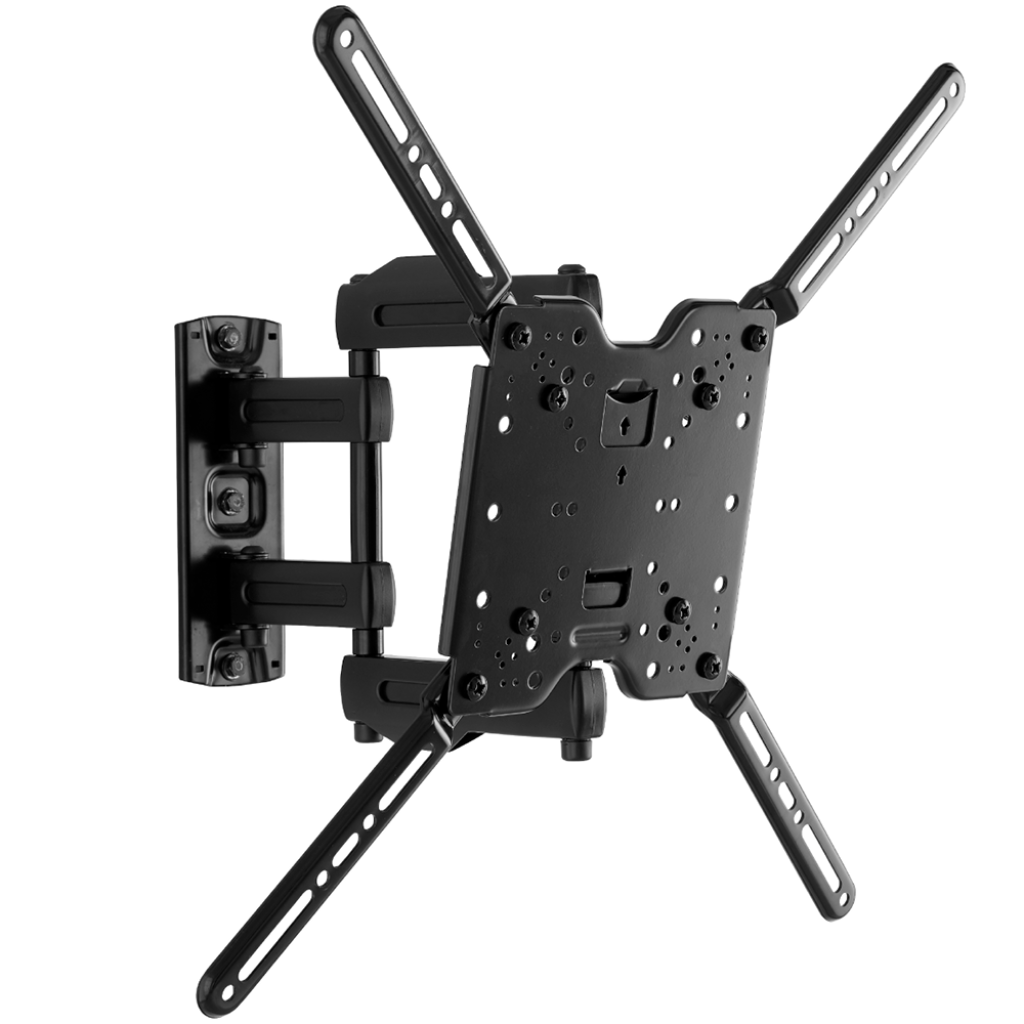 sanus single stud full motion tv wall mount for 32 to 80 tvs. Black Bedroom Furniture Sets. Home Design Ideas