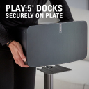 WSS51 PLAY:5 docks securely on plate