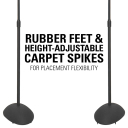 HTB3 rubber feet, height-adjustable, carpet spikes