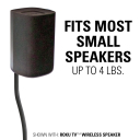 HTB3 fits most small speakers