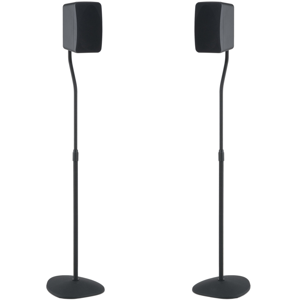 SANUS Adjustable Height Speaker Stands With Universal Design For
