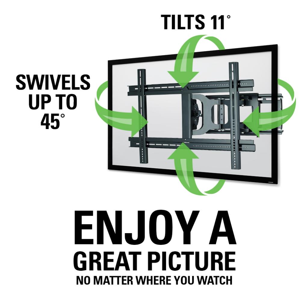 Sanus Classic Full Motion Wall Mount For 37 Quot 80 Quot Tvs