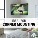 Ideal for corner mounting