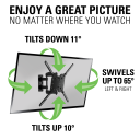 Enjoy a great picture - Show swivel and tilt degrees