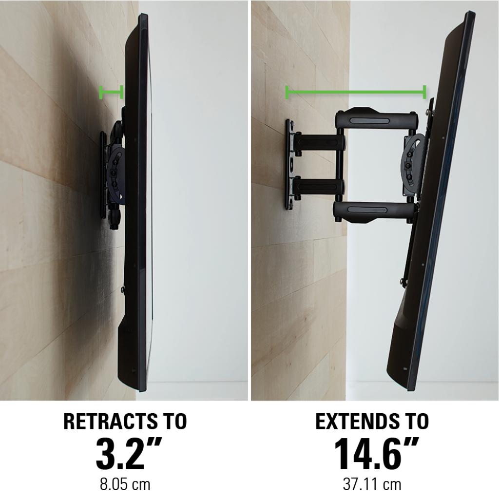 sanus single stud full motion tv wall mount for 32 to 80 tvs. Black Bedroom Furniture Sets. Home Design Ideas