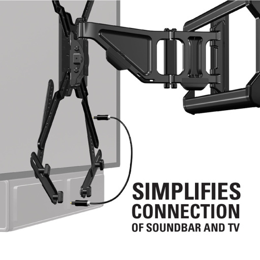 Simplifies Connection to Soundbar and TV