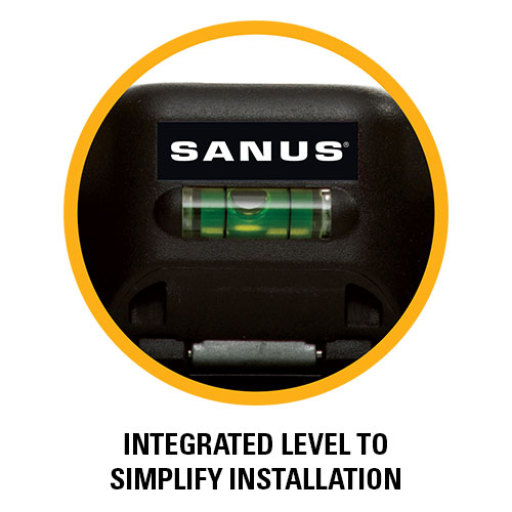 Integrated level to simplify installation