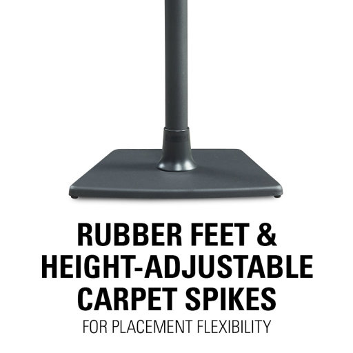 Rubber Feet and Adjustable Carpet Spike